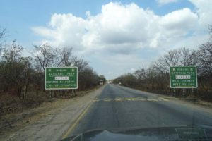entering Mikumi NP, this highway cuts right through the middle of the national park and many animals are killed each night by speeding trucks