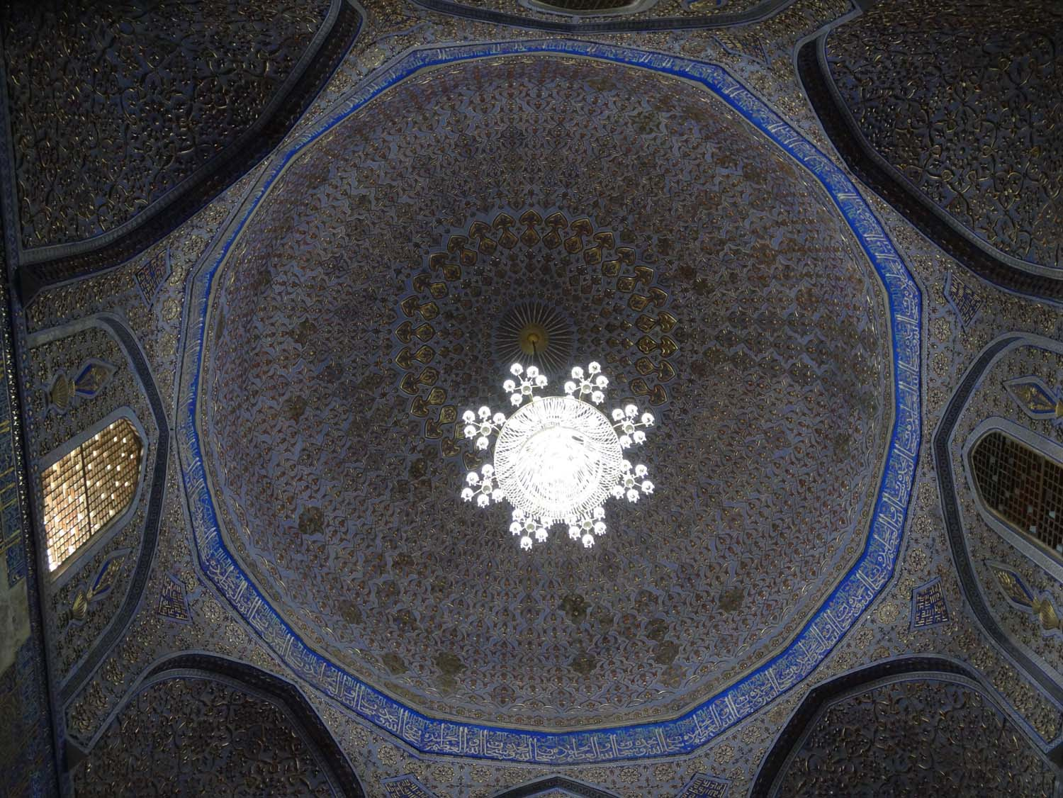 the ceiling of the Gur-e-Amir mausoleum - told you we loved this one!