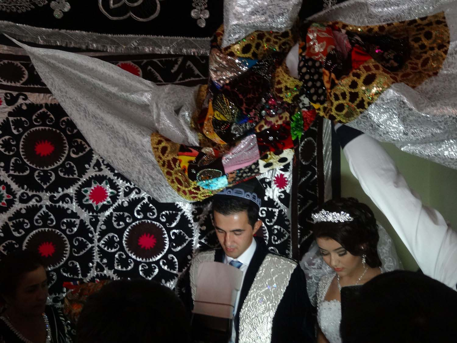 the wedding ceremony for a very young couple