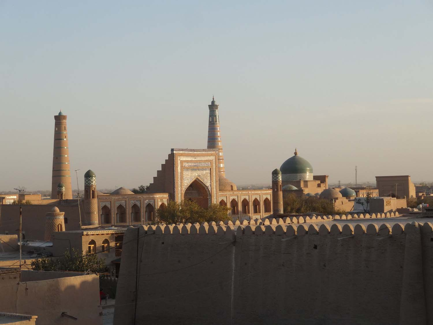view over Khiva from a roof terrace in the old town
