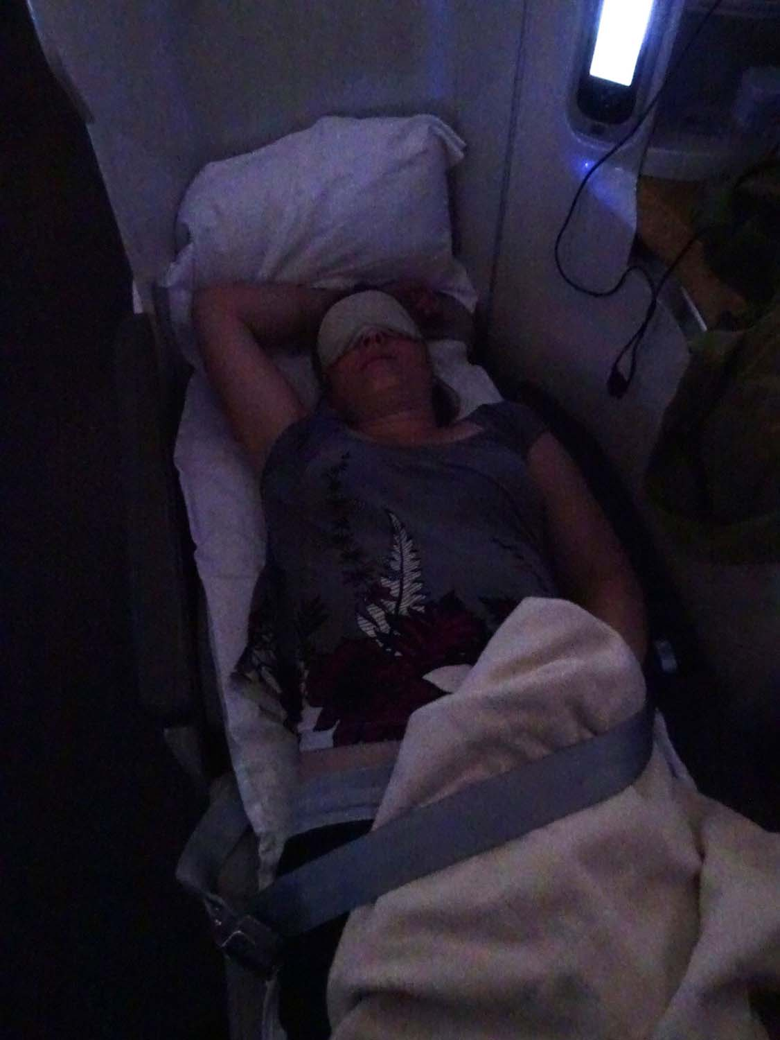 Jude definitely watches less movies when traveling in business class