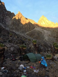 breakfast at Kami Tarn Camp