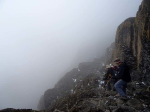 circumnavigating the peaks of Mt Kenya