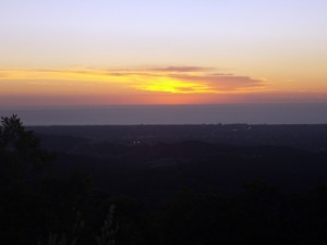 another beautiful sunset from the top of Mt Lofty