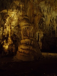 beautiful stalactites and stalagmites