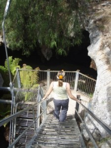 going down into some more caves