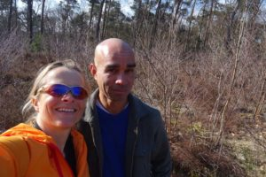 Jude and Guillaume in the forest of Bergen op Zoom