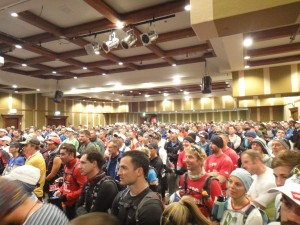 lots of runners at the race briefing