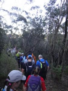 huge bottleneck at the start of the trails