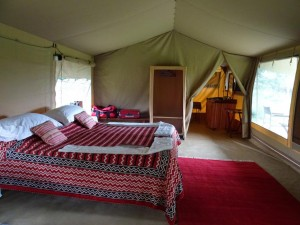 our tent, with en suite bathroom of course