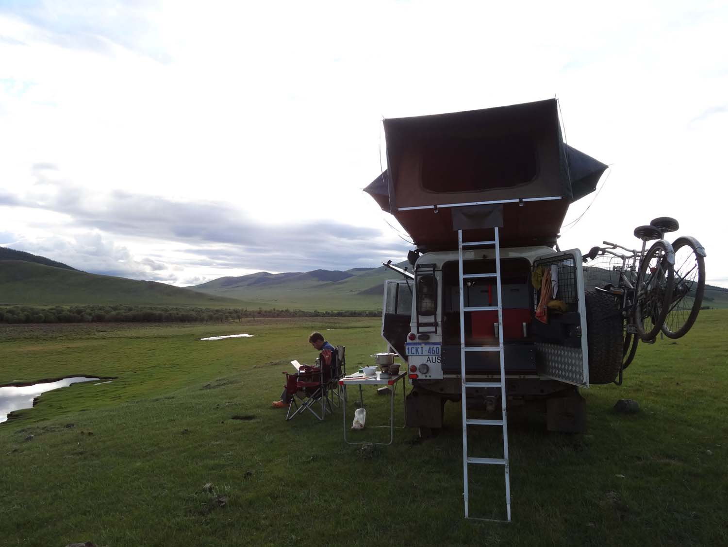 our super stunning campsite, just in the middle of nowhere
