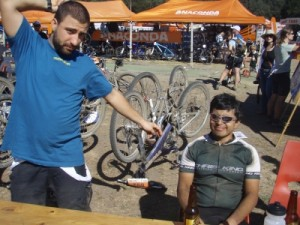Dimi and Ted at the finish