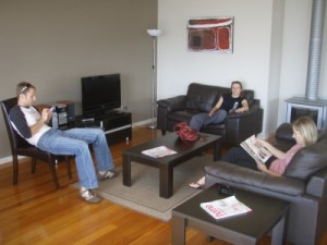 relaxing in our house on Great Ocean Road
