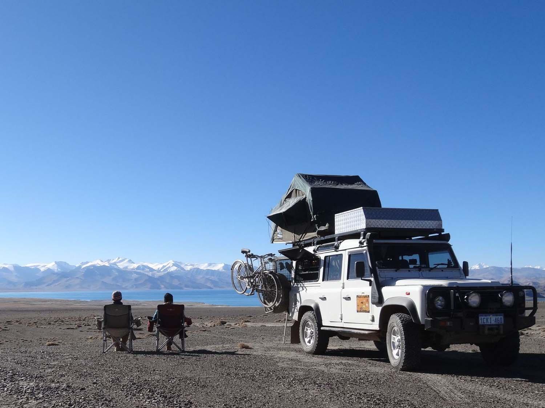 breakfast at Lake Karakol