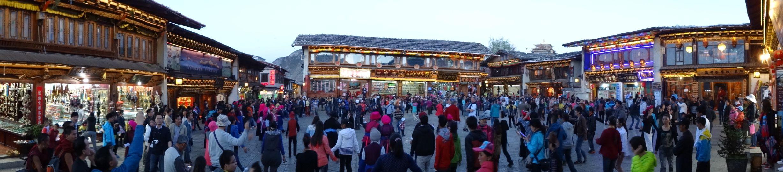 Main square in Zongdian (Shangri-La)