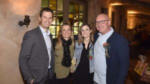 Jon, Jude, Sandra and Peter at Peter's reception for 25 years of working for the Efteling
