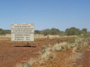 end of a great road: Meekatharra - Ashburton Rd