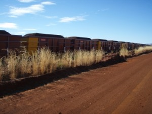 some iron ore in the world's longest trains