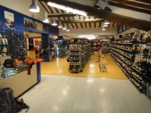 Intersport in Ainsa - the only outdoor shop in the area and it is open on Sunday!
