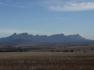 view of the Stirling Ranges on the way back