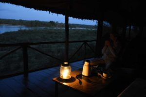 early morning cup of hot chocolate before heading out on our game drive
