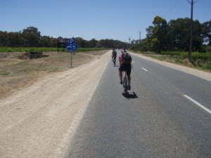 on the long, flat ride