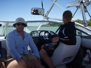 Tom and Pierre - the excellent wakeboarding drivers