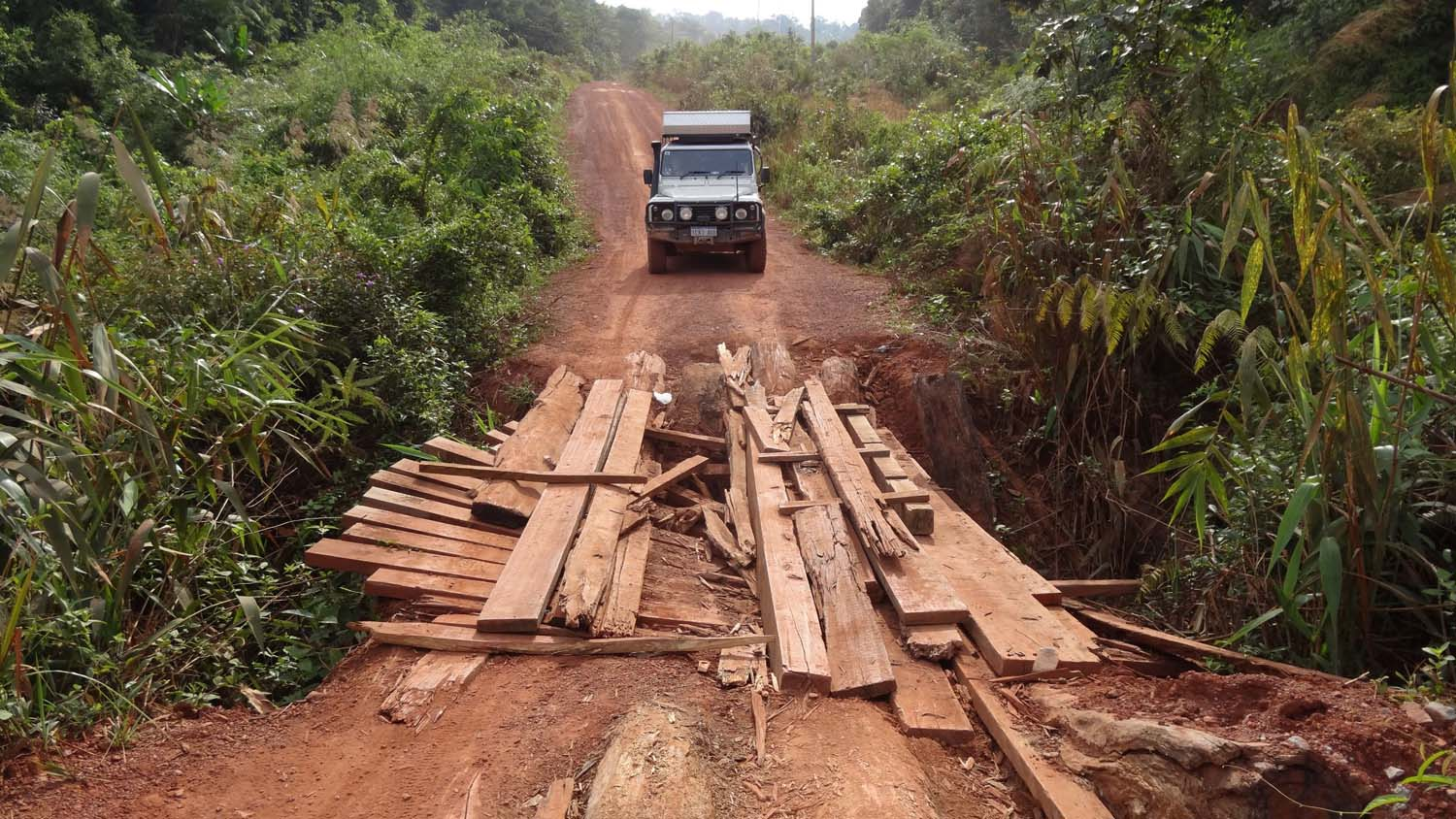 dodgy bridges in the Cardamom mountains