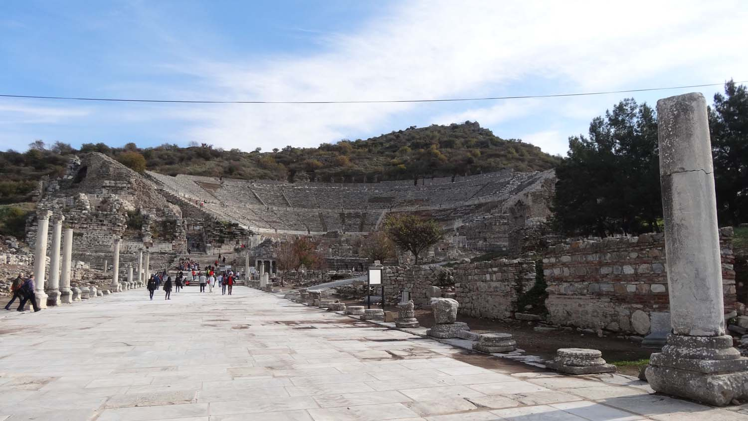 Roman theatre seating 25,000 in Ephesus