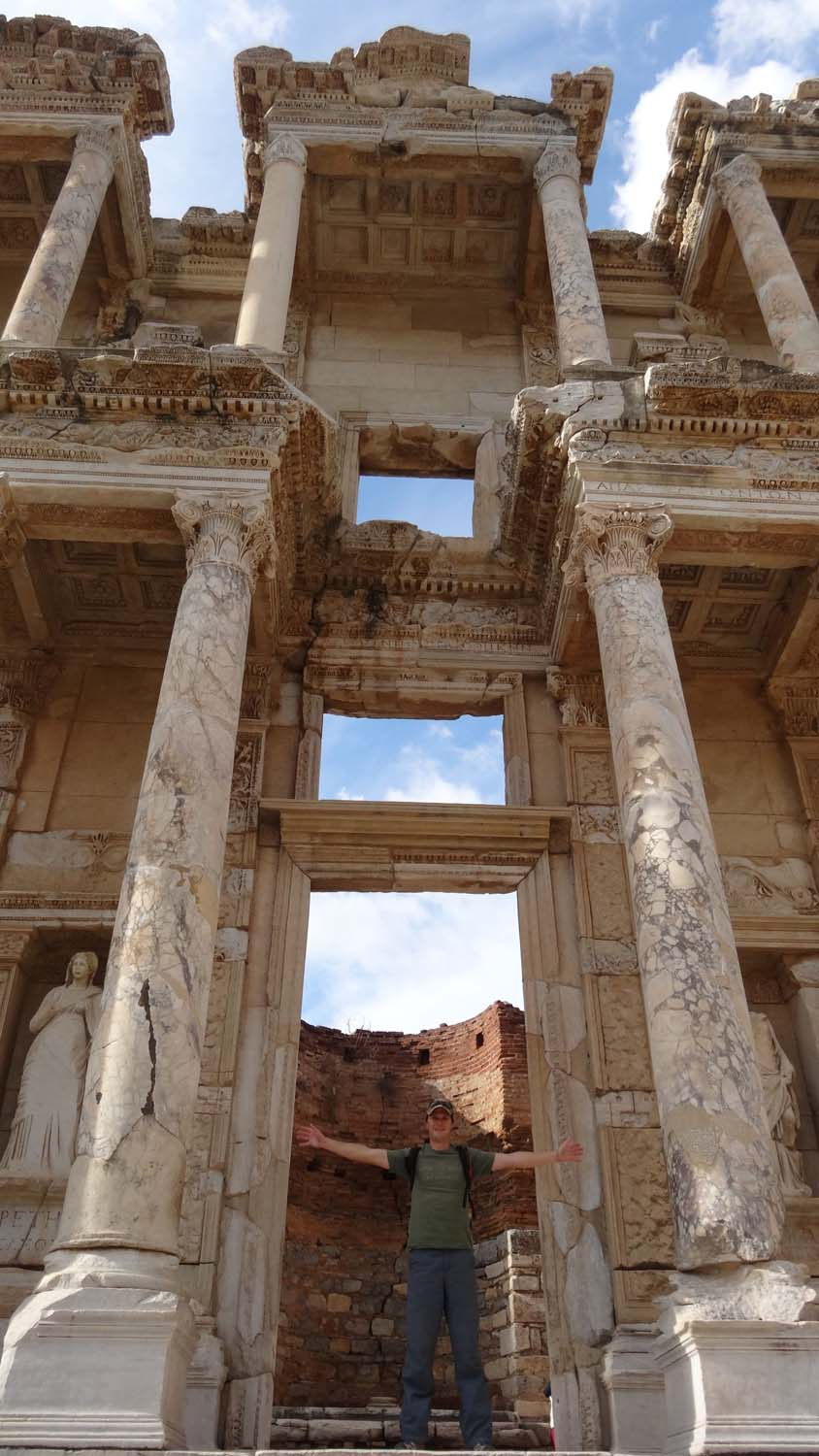 immaculately restored Library of Celsus in Ephesus