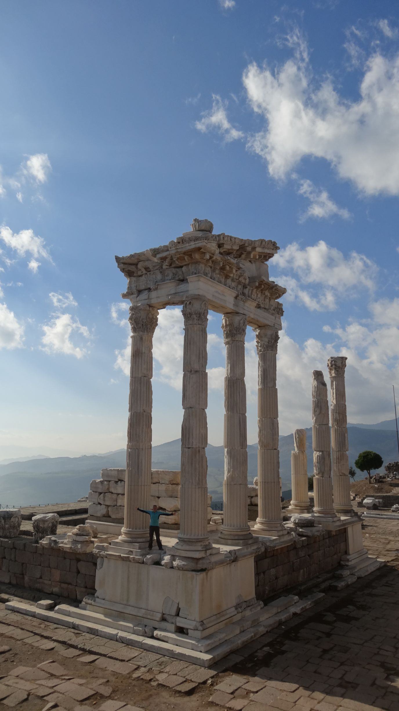 very impressive Temple of Trajan at Pergamon