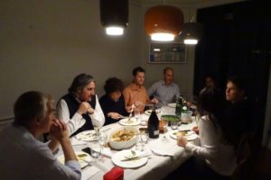 a delicious dinner at Marco and Kijo's place just after arriving in Rome