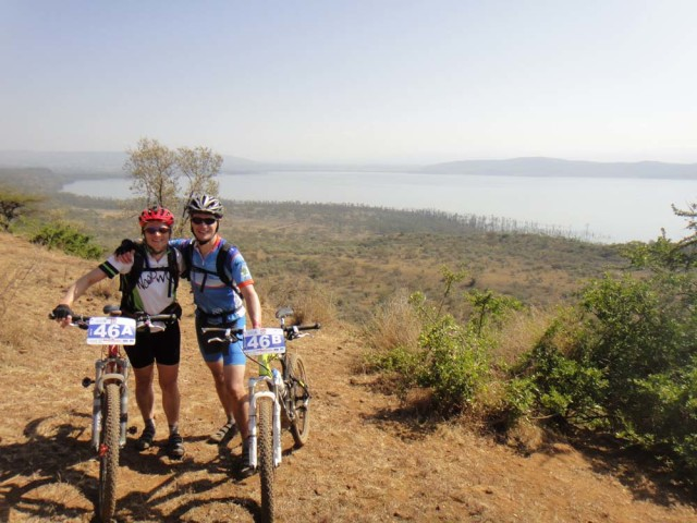 Mountainbiking with lions