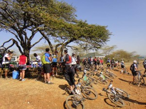 the busy waterstop at the Out of Africa lookout