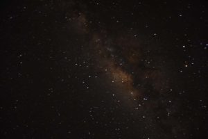 the amazing night sky from Saadani NP