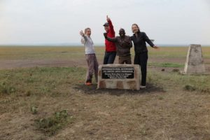 Jude, Jon, Said (our fantastic guide) and Regine on the border with Kenya