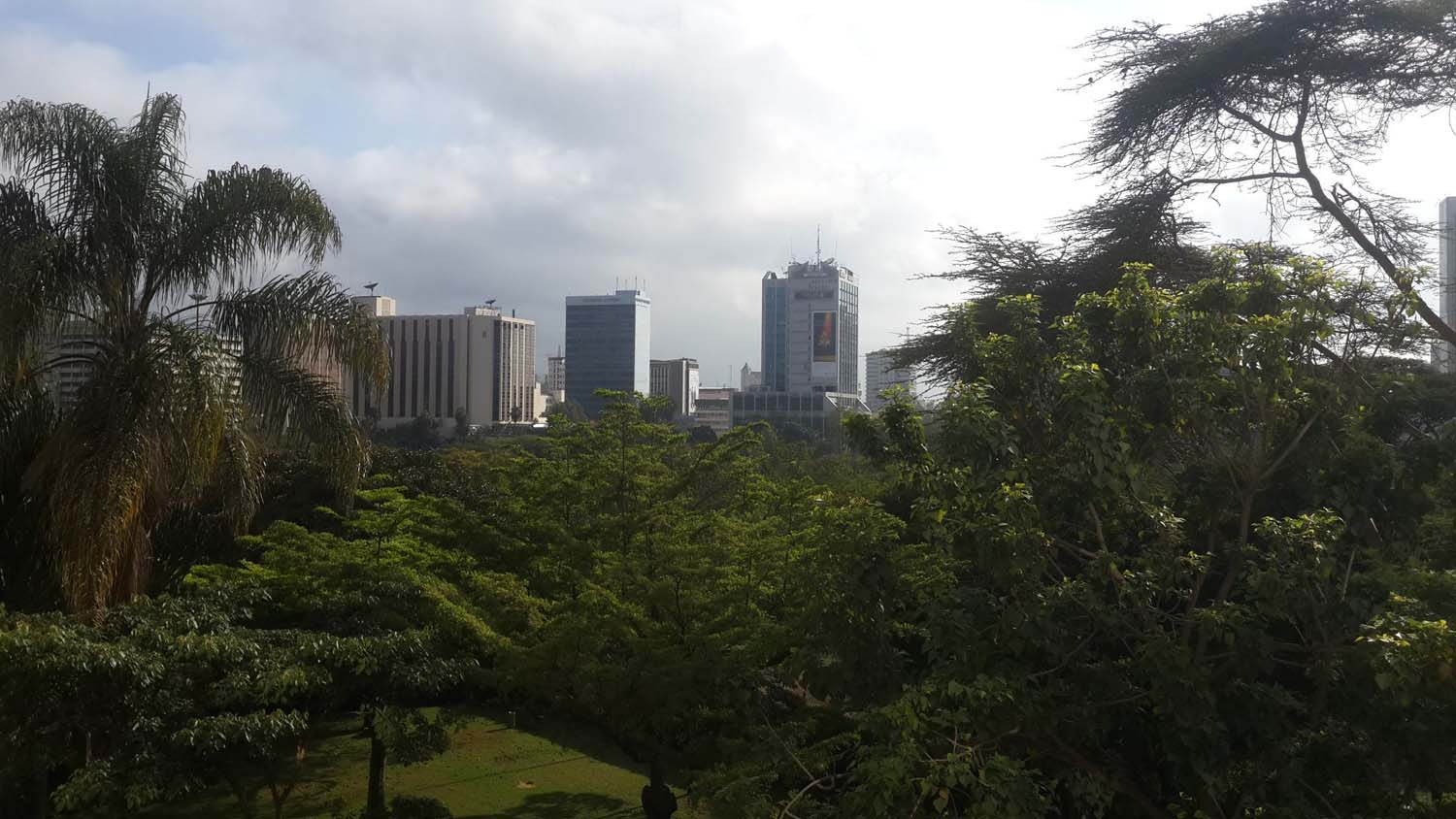 view of the CBD through our hotel room