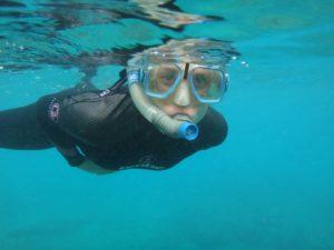 Jude snorkelling