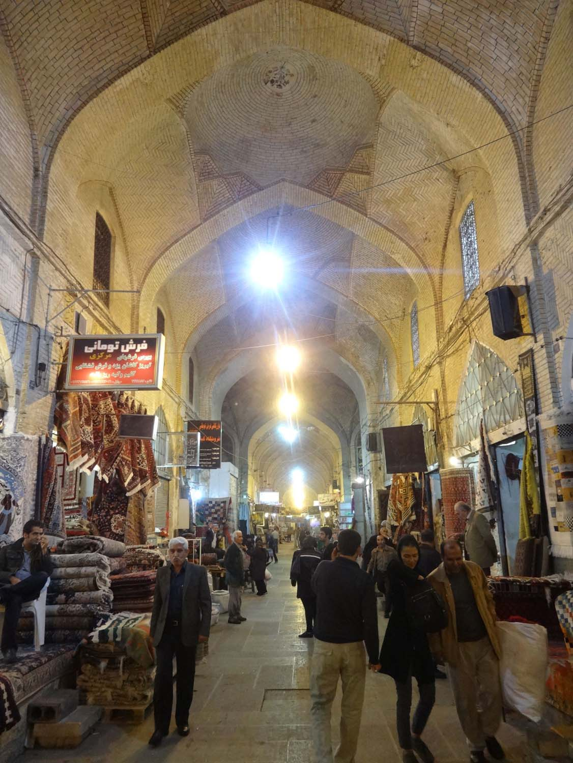 the stunning bazaar in Shiraz