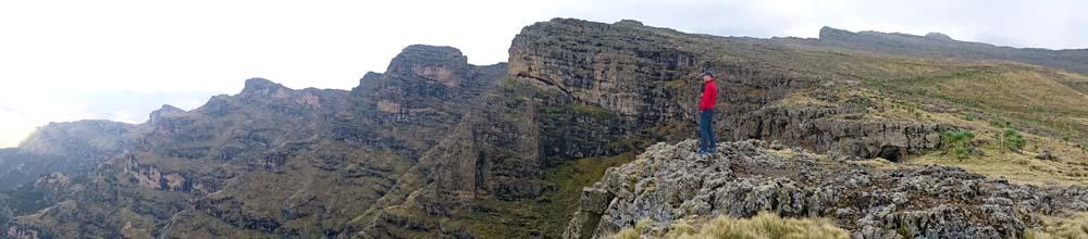 Jon overlooking the Simien Mountains