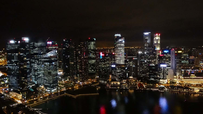 Singapore night sky