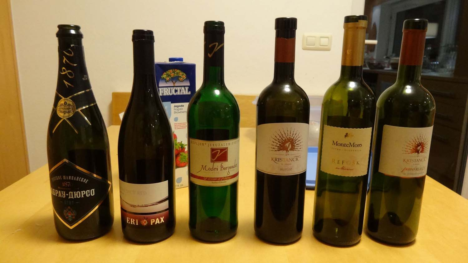 some of the great Slovenian wines we tried