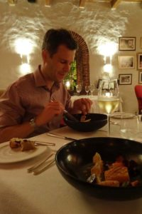 an amazing degustation dinner at Rust and Vrede