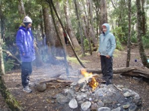 at some camp sites you are allowed to have a fire, we certainly loved this one