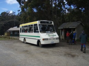 our shuttle bus back to Hobart