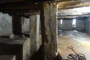 This is one of 2 rooms underground still remaining. Slaves were kept here before going to the market. Many died right here from suffocation and starvation as this room alone held around 75 men