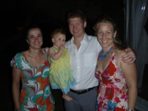 Jude, Stella, Jason and Jenni at the wedding