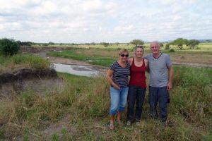 Riet, Jude and Nico in Tarangire NP