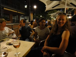drinks in the Belgian Beer Cafe with Karen, Nancy, Angelo and BB