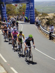 lap 4 on Willunga Hill - 1km from top of the hill